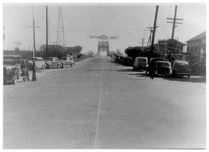 Primary view of object titled '[Bridge to Louisiana at the end of Green Avenue]'.