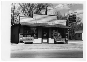 Primary view of object titled '[Veteran's Grocery Store]'.