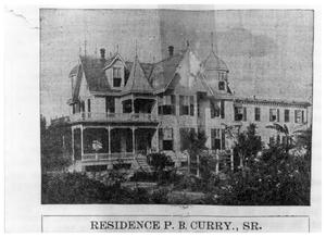 Primary view of object titled '[P.B. Curry, Sr. Residence]'.