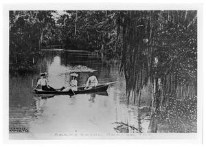 Primary view of object titled '[Boating on Adams Bayou]'.