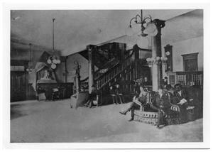 Primary view of object titled '[Interior of the Holland Hotel]'.