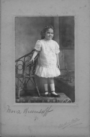 [Marie Wessendorff as a little girl (about 4 years old).]