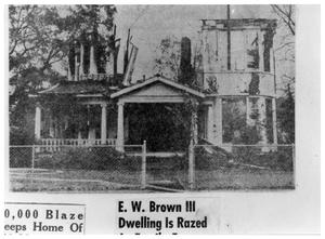 Primary view of object titled '[E.W. Brown Home after the  Fire]'.