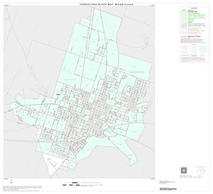Primary view of object titled '2000 Census County Block Map: Milam County, Inset B01'.