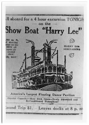"Primary view of object titled 'Show Boat Harry Lee""'."