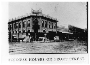 Primary view of object titled '[Business Houses on Front Street]'.