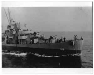 Primary view of object titled '[Battleship U.S.S. Harvesson]'.