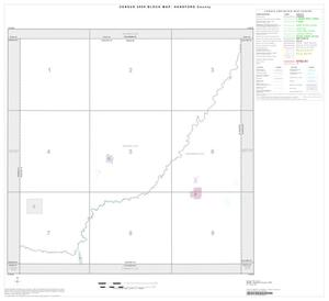 Primary view of object titled '2000 Census County Block Map: Hansford County, Index'.