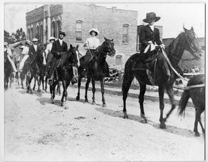 Primary view of object titled '[A Parade in Orange, Texas]'.