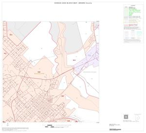 Primary view of object titled '2000 Census County Block Map: Brown County, Inset E07'.