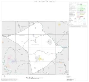 Primary view of object titled '2000 Census County Block Map: Lee County, Index'.
