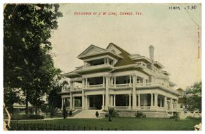 Primary view of object titled '[Residence of J W Link, Orange, Tex.]'.