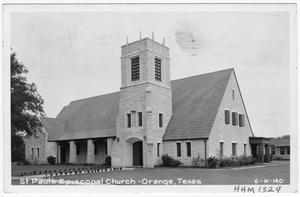 Primary view of object titled '[St. Paul's Episcopal Church - Orange, Texas]'.