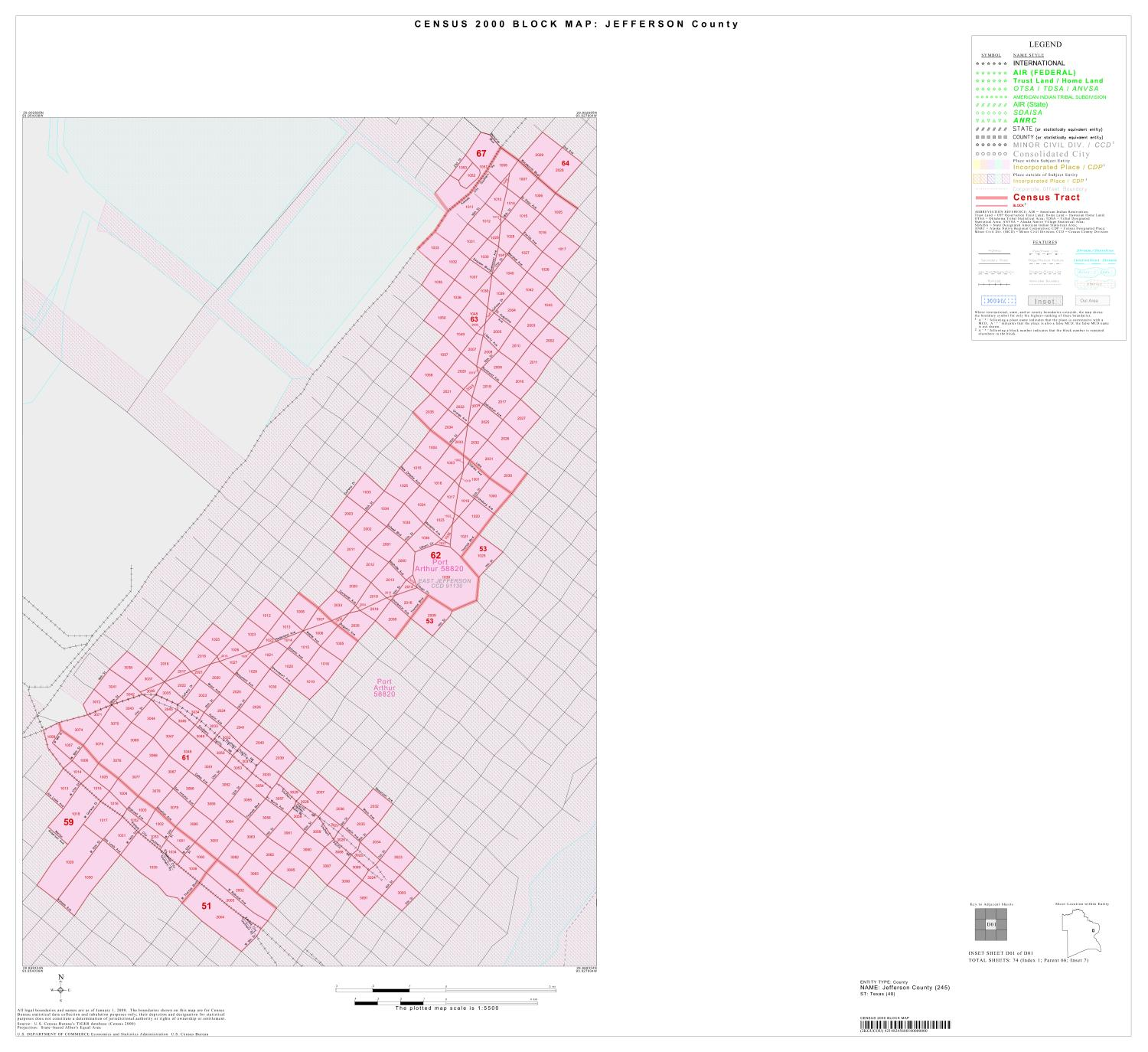 2000 Census County Block Map: Jefferson County, Inset D01                                                                                                      [Sequence #]: 1 of 1