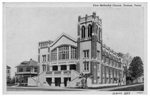 Primary view of object titled '[First Methodist Church in Orange, Texas]'.