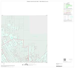 Primary view of object titled '2000 Census County Block Map: Tom Green County, Inset D02'.