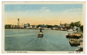 Primary view of object titled '[River Front, Orange, Texas]'.
