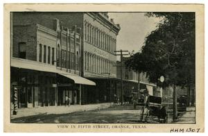 Primary view of object titled '[View in Fifth Street, Orange, Texas]'.