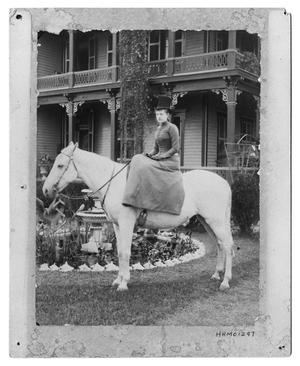 Primary view of object titled '[Woman on a White Horse]'.
