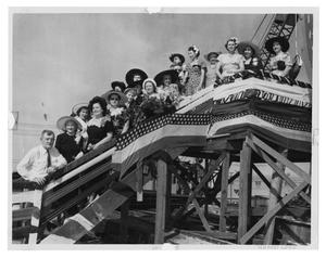 Primary view of object titled '[Ed Malloy and Seventeen Women at a Launching]'.