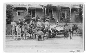 Primary view of object titled '[Group at Manitou Colorado]'.