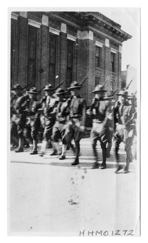 Primary view of object titled '[Orange National Guard in a Parade]'.