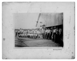 Primary view of object titled '[Employees at the Bancroft Saw Mill]'.