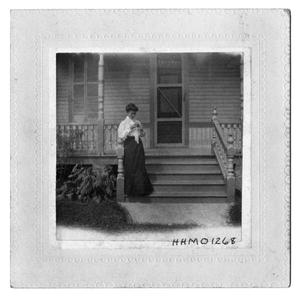 Primary view of object titled '[Annie Goree on Front Steps]'.