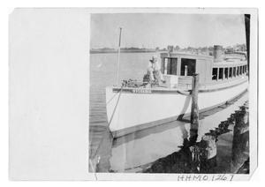 "Primary view of object titled '[Photograph of E.W. Bancroft's Yacht ""Sylvania""]'."