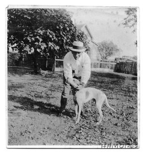 Primary view of object titled 'E.W. Bancroft and Dog'.