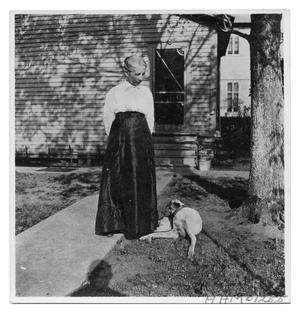Primary view of object titled 'Mrs. Eugene Bancroft and Dog'.