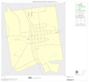 Primary view of object titled '2000 Census County Block Map: Houston County, Inset E01'.