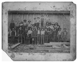 Primary view of object titled 'Bancroft Shingle Mill Crew in 1880'.