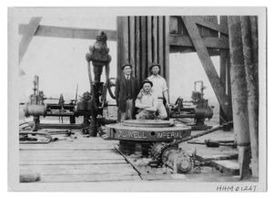 Primary view of object titled 'Three Men on an Oil Rig'.