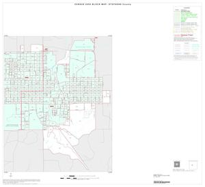 Primary view of object titled '2000 Census County Block Map: Stephens County, Inset A02'.