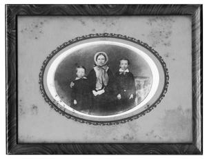 Primary view of object titled 'Eugene, Arthur and Mrs. Thomas Bancroft'.