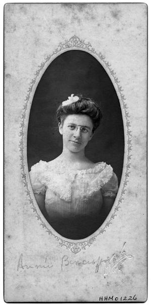 Primary view of object titled 'Portrait of Annie Bancroft'.
