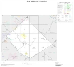 Primary view of object titled '2000 Census County Block Map: Caldwell County, Index'.