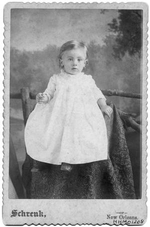 Primary view of object titled 'Portrait of baby Carl Bancroft'.
