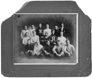 Primary view of object titled 'Portrait of the YMCA Football Team'.
