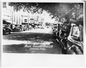 Primary view of object titled '5th Street Main Business District in Orange, Texas'.