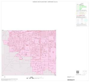 Primary view of object titled '2000 Census County Block Map: Harrison County, Inset B03'.