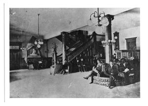Primary view of object titled 'Holland Hotel Lobby, 1902'.