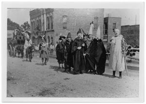 Primary view of object titled '[Shrine Parade on 5th at Main St.]'.
