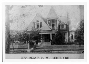 Primary view of object titled 'Residence of F.W. Hustmyre'.