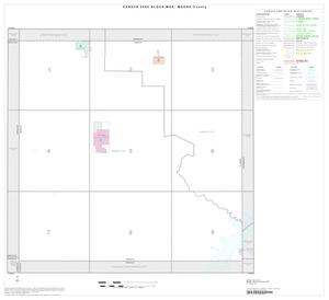 Primary view of object titled '2000 Census County Block Map: Moore County, Index'.
