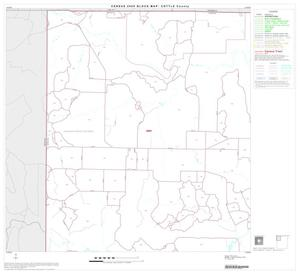 Primary view of object titled '2000 Census County Block Map: Cottle County, Block 1'.