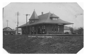 Primary view of object titled 'S.P. Depot, Orange, Texas'.
