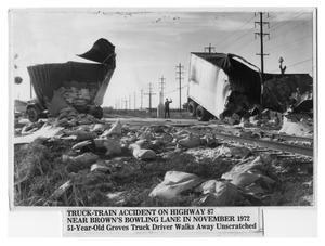 Primary view of object titled 'Truck-train accident on Highway 87'.