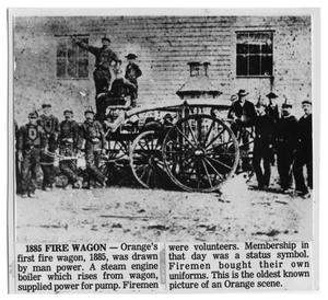 Primary view of object titled '[1885 Fire Wagon]'.